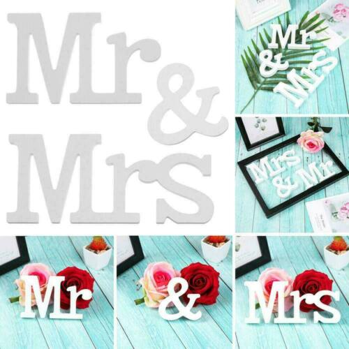 Wedding Reception Sign Mrs And Mr Wooden Table Letter Decoration New Card P E4M7