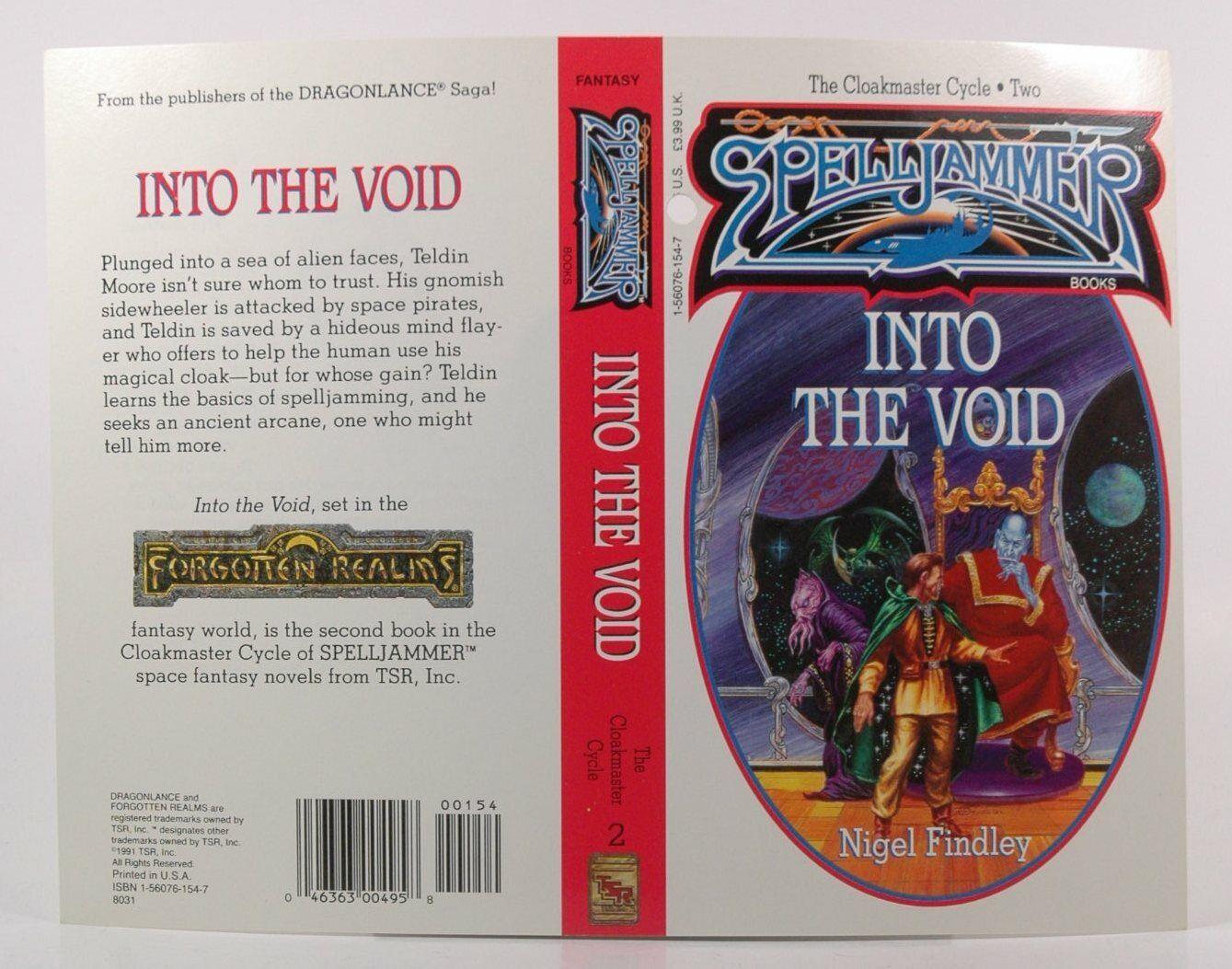 Spelljammer Into the Void Novel Cover Proof Rare Nigel FIndley Rare TSR