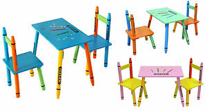 Kiddi-Style-Childrens-Wooden-Table-and-Chair-set-Kids-Toddlers-Childs-NEW