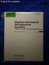 Sony Bedienungsanleitung MDR DS8000 Digital Surround Headphone System (#3616)