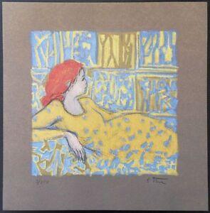 Robert-Stenne-1931-Femme-rousse-lascive-LIthographie-originale-250ex
