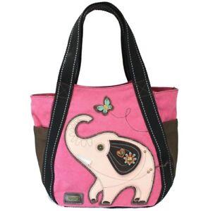 Image is loading Chala-Purse-Handbag-Leather-amp-Canvas-Carryall-Tote- ba8b04b3ba576