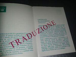 ROLEX-MOLTO-RARO-CERTIFICAZIONE-COSC-ANNI-039-80-CHRONOMETER-CERTIFICATIONS
