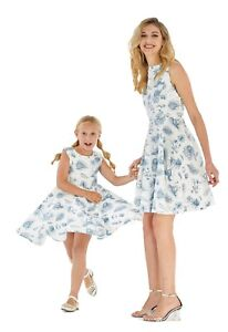 2abac660ec8 Details about Hawaii Hangover Mother Daughter Matching Luau Outfit In  Vintage Tropical Tolie