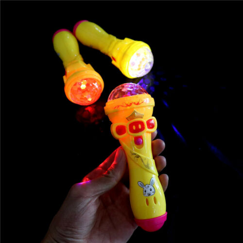 1x LED Projection Microphone Flash Microphone Light-emitting Baby Kids Hot Toy