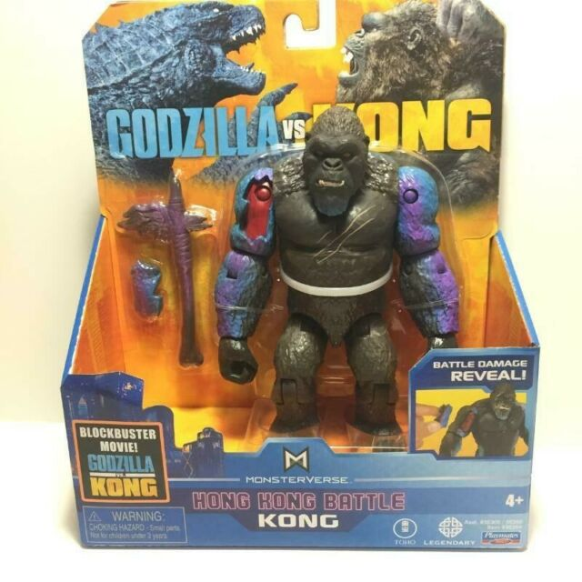 """Godzilla vs Kong   6""""  Hong Kong Battle   KONG   Playmates   LH0345   2021  New"""