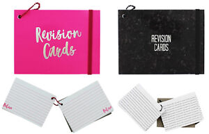 Details about Neon Revision Paper Cards Record Flash Prompt Cue White  Double Sided Ruled Lined