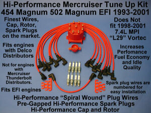 Details about TUNE UP MERCRUISER 454 502 EFI MAGNUM SPARK PLUGS WIRES  DISTRIBUTOR CAP ROTOR