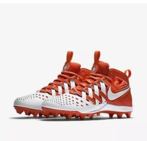 Mens Nike Huarache V 5 LAX Lacrosse Cleat 807142 811 White Orange Size 10