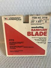 8 Inch Bandsaw Blade for Lumberjack BS200 Bench Top Hobby bandsaw 3//8inch x 6TPI