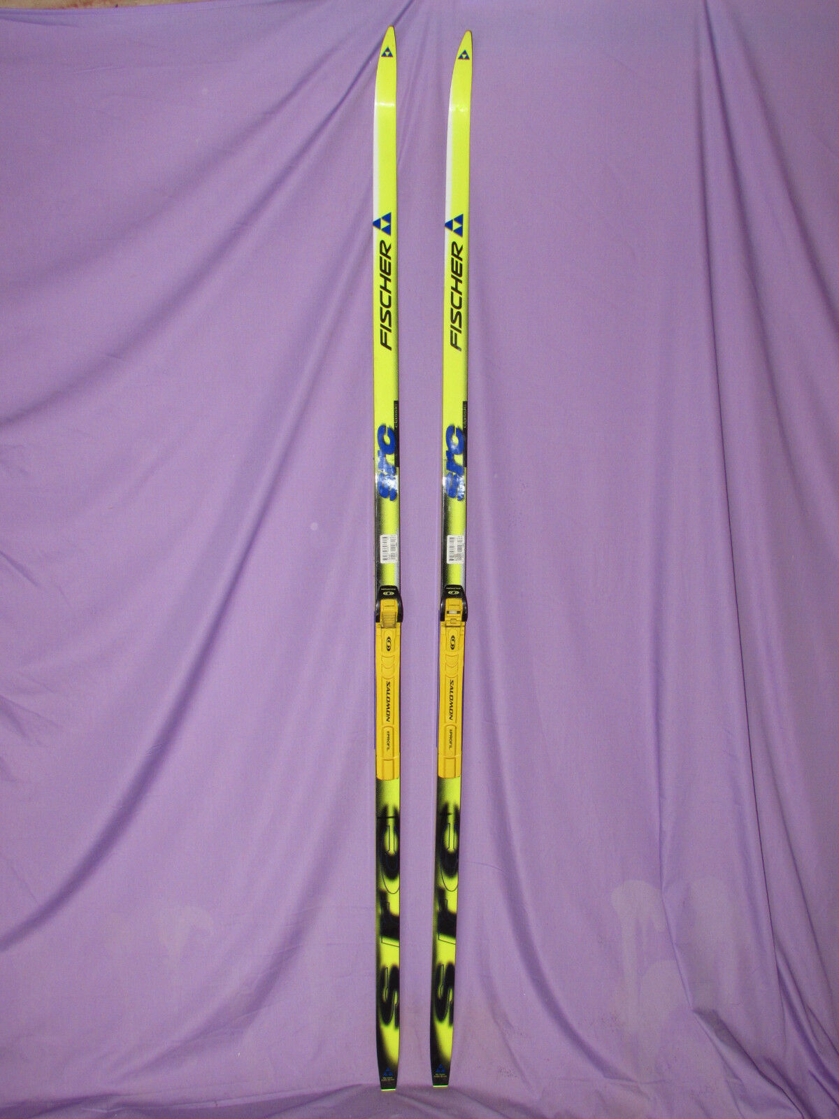Fischer Racing SRC Classic cross  country skis w  Salomon Profil SNS xc bindings  various sizes
