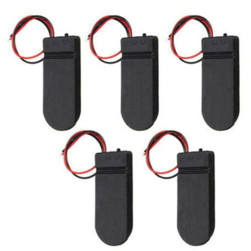5PCS CR2032 Button Coin Cell Battery Holder Box Cover With ON//OFF Switch