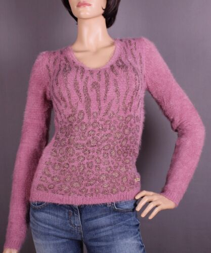 Maglione scelta strass da misura con a M colore lilla donna o L FpFwBxrP
