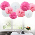 2pcs Tissue Paper Pom Poms Flower Ball Baby Shower Birthday Wedding Party Decor