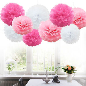 510pcs wedding party home hanging tissue paper pom pom lantern image is loading 5 10pcs wedding party home hanging tissue paper mightylinksfo