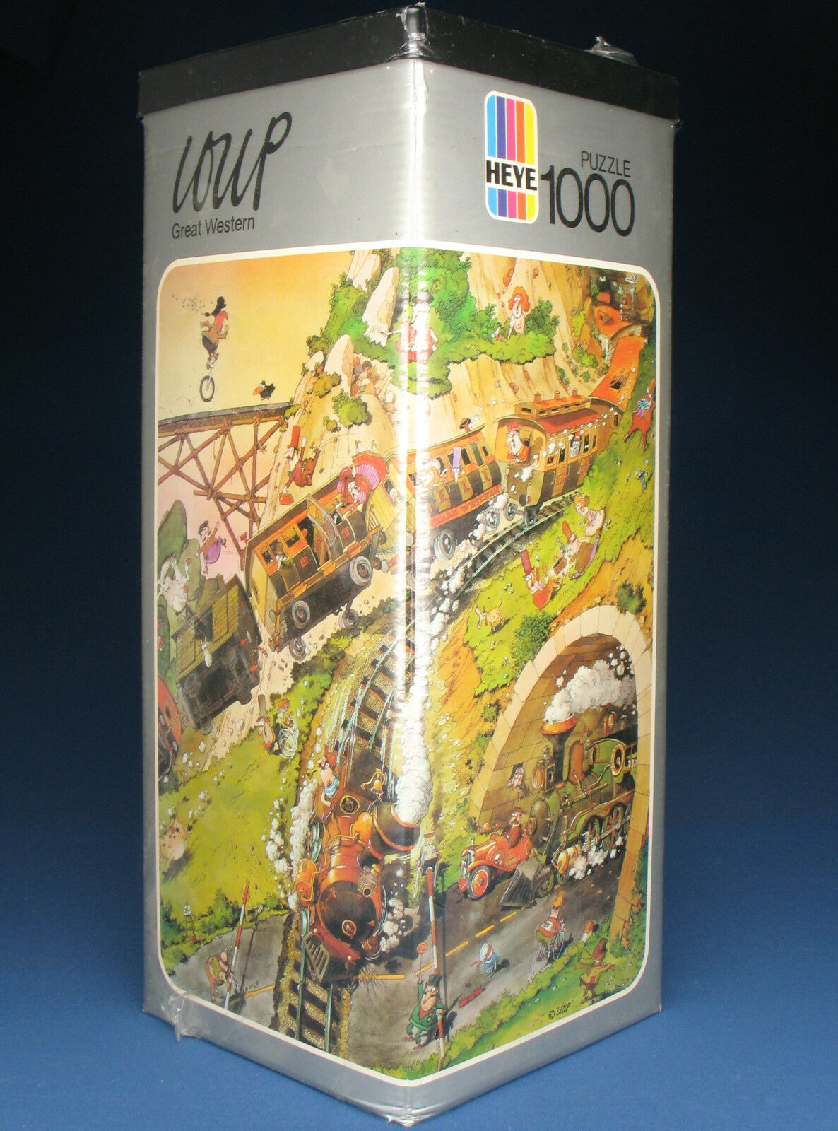 HEYE PUZZLE TRIANGOLARE 8708-Loup-Great Western - 1974 - 1000 PEZZI-NUOVO-NEW