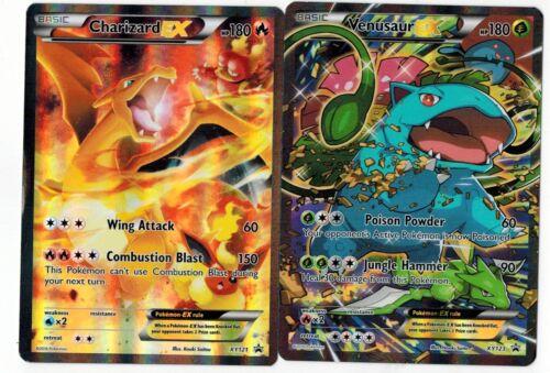 Venusaur EX XY121  XY123  Ultra  FULL ART Promo Pokemon Set  OF  2 Charizard