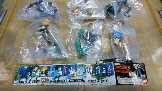 Bandai Lupin The 3rd part 3 figure Gashapon set new