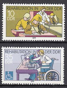 Rda 1979 Mi. Nº 2431-2432 Cachet ** Mnh-afficher Le Titre D'origine