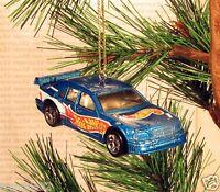 1997 Mercedes C Class Race Car Christmas Ornament Blue Racing Xmas