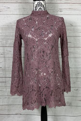 WOMENS WISHLIST DUSTY ROSE LACE DRESS SIZE SMALL M