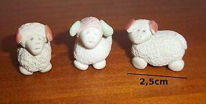 figurines crèche 3 moutons miniature- vitrine-collection-mouton-schaap S1 idnP5VP1-08040917-870679639