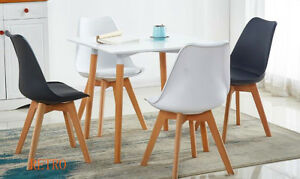 square-Dining-table-and-4-tulip-chairs-retro