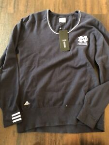 Image is loading Notre-Dame-Women-s-Football-Adidas-Sweater-Large- 171dc089b