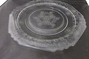 Image is loading Vintage-Hazel-Atlas-Florentine-1-Hexagonal-Dinner-Plate- & Vintage Hazel-Atlas Florentine 1 Hexagonal Dinner Plate ca. 1930\u0027s ...