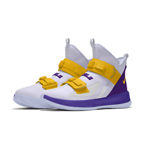 Nike-Lebron-Soldier-13-XIII-iD-Lakers-White-Custom-Mens-Basketball-2019-NEW
