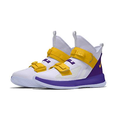 Nike Lebron Soldier 13 XIII iD Lakers White Custom Mens Basketball 2019 NEW