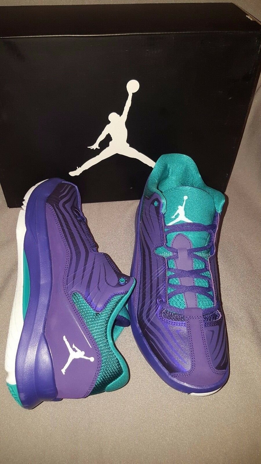 NIKE JORDAN AERO MANIA LOW PURPLE GRAPE 574411 593 MENS SHOES SIZE 9.5 NEW NIB