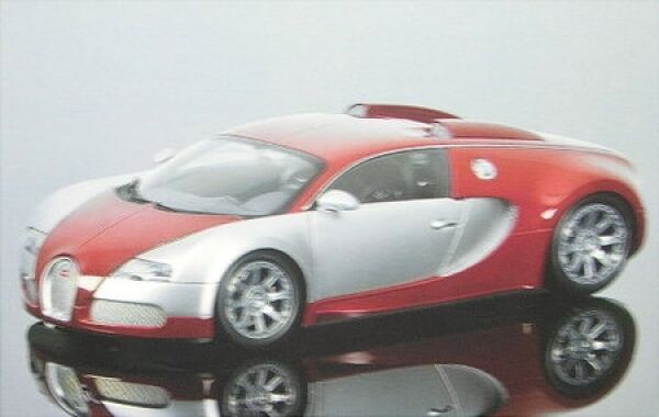 Bugatti veyron lédition centenaire (CROME rouge) 2009