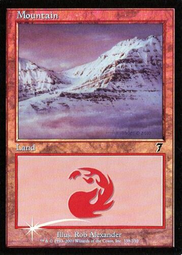 MTG - 7th Edition - Mountain #338 - Foil - Various conditions