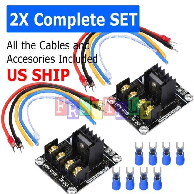 2Sets Fits ANET A8 MOSFET Board Upgrade 3D Printer Heated Bed Power Module Part
