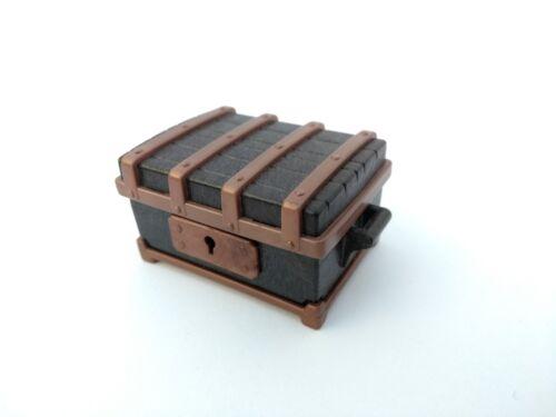 * PLAYMOBIL * Coffre en bois Coffre à Trésor Noir Cuivre * Ritterburg 3626, 3858, 3029 *