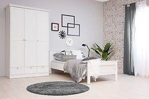 Details zu Jugendzimmer Komplett Set Kinderzimmer Komplettset Schlafzimmer  STOCKHOLM 1 Weiß