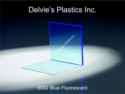 "5 Sheets 1//8/"" 9092 Fluorescent Blue Cell Cast Acrylic Sheet  12/"" x 24/"""