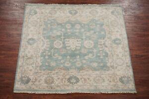 Square-6X6-OushakHand-Knotted-amp-Veg-Dyed-Wool-Area-Rug-Carpet-5-11-x-6-1