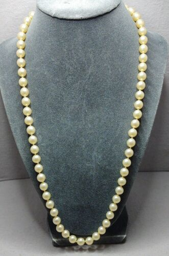 Vintage Pearl And 14K Gold Necklace