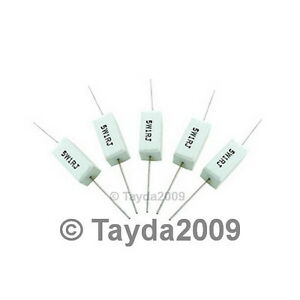 3-x-Resistors-1-Ohm-5W-Cement-FREE-SHIPPING