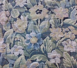 Beautiful-French-Floral-Antique-c1900-Heavy-Jacquard-Tapestry-Fabric-Textile