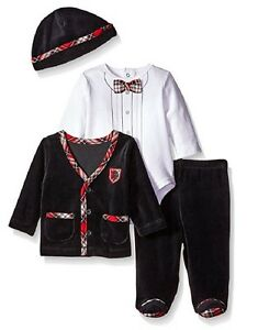 Little-Me-Baby-Boys-Newborn-Charmer-4-Piece-Jacket-Set-Black-Multi-6-M-52