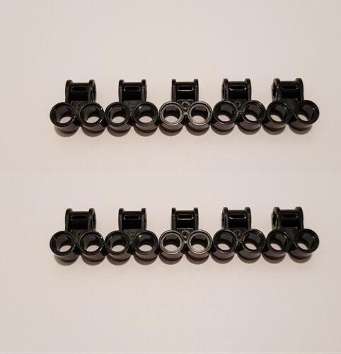 10x LEGO Technic Pin Connecteur perpendiculaire double noir 32291 technique 4140430