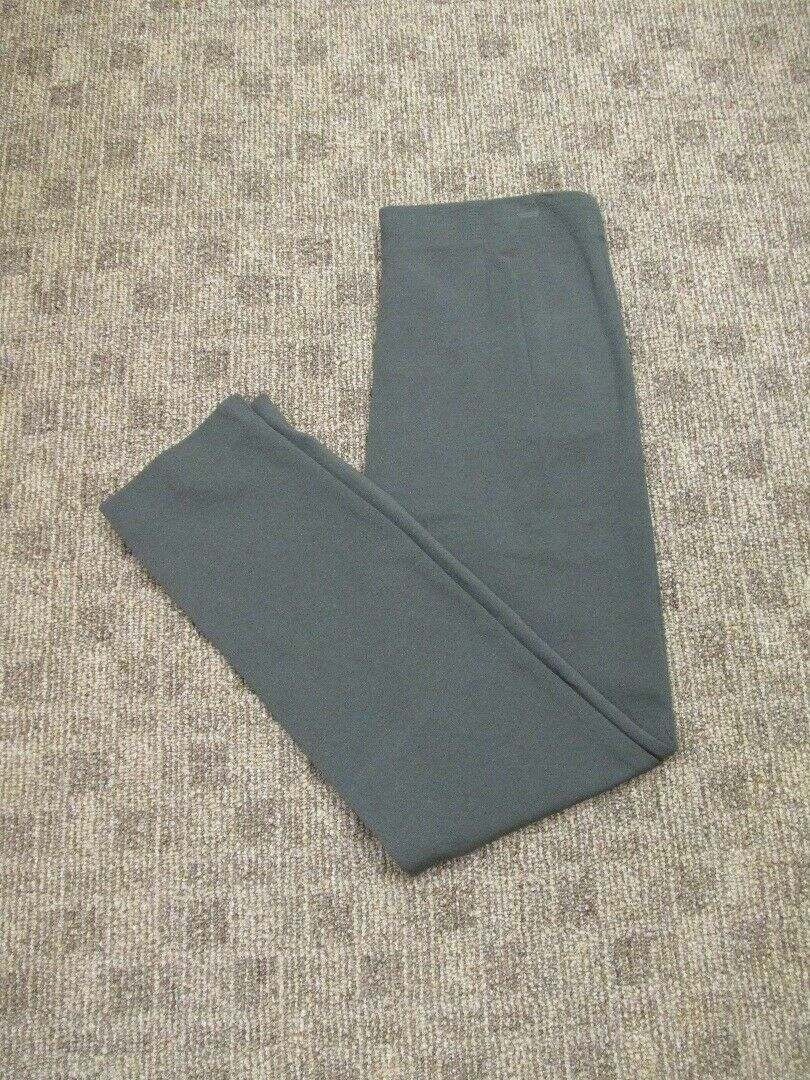 EILEEN FISHER PETITE Dark Olive braun Flat Zip Front Solid Pants Sz PM GG5983