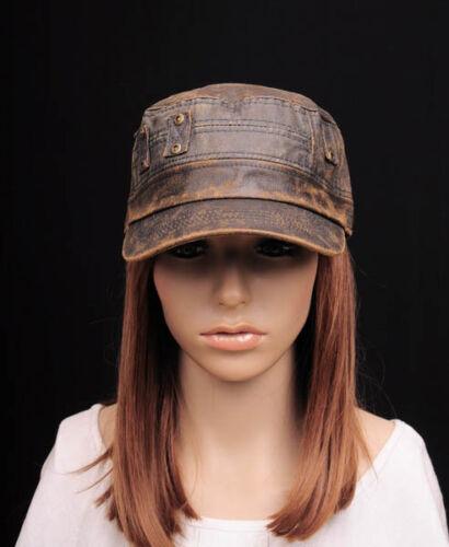 M340 Vintage Brown Fashion Cool Faux Leather PU Hat Cap Newsboy Gatsby Hunter