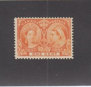 CANADA-MK5218-51-FVF-MNH-1cts-1897-QV-DIAMOND-JUBILEE-ORANGE-CAT-VAL-90