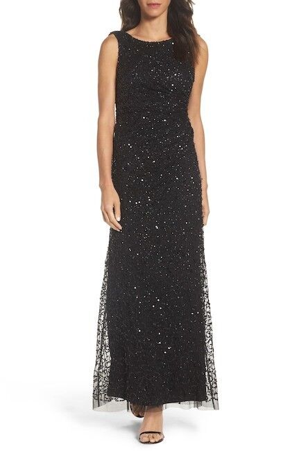 Adrianna Papell Sequin Cowl Back Gown (Größe 18W)