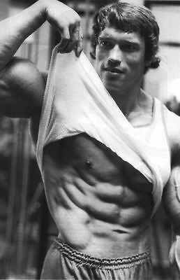 Photo Poster art Bodybuilding Encadrée Imprimer-Arnold Schwarzenegger working out