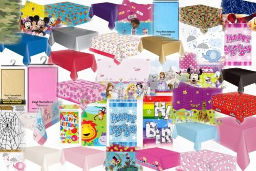 Plain Children/'s Birthday Party Rectangle Tablecover Table Covers Cloth